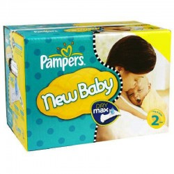 Pack jumeaux 864 Couches Pampers New Baby Dry taille 2 sur Couches Zone