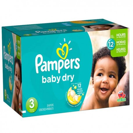 Pack jumeaux 812 Couches Pampers Baby Dry taille 3 sur Couches Zone
