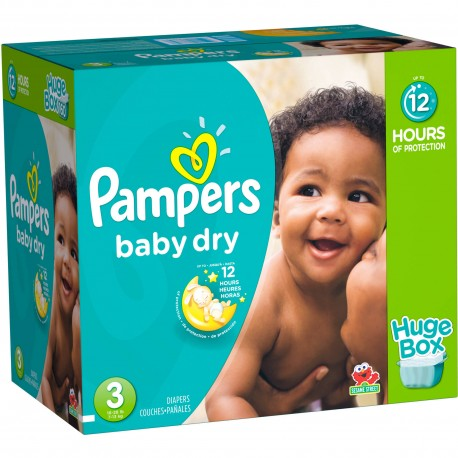 Pack jumeaux 1044 Couches Pampers Baby Dry taille 3 sur Couches Zone