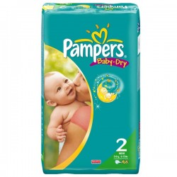 58 Couches Pampers Baby Dry taille 2 sur Couches Zone