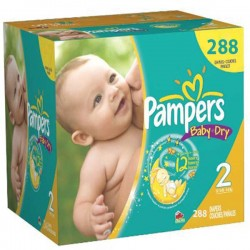 Maxi giga pack 348 Couches Pampers Baby Dry taille 2 sur Couches Zone