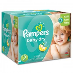 Pack jumeaux 522 Couches Pampers Baby Dry taille 2 sur Couches Zone