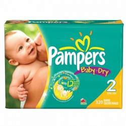 Pack jumeaux 696 Couches Pampers Baby Dry taille 2 sur Couches Zone