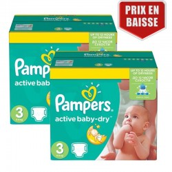 Giga pack 225 Couches Pampers Active Baby Dry taille 3 sur Couches Zone