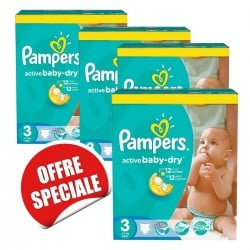 Maxi giga pack 315 Couches Pampers Active Baby Dry taille 3 sur Couches Zone