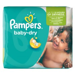 Pack 84 Couches Pampers Baby Dry taille 5+ sur Couches Zone