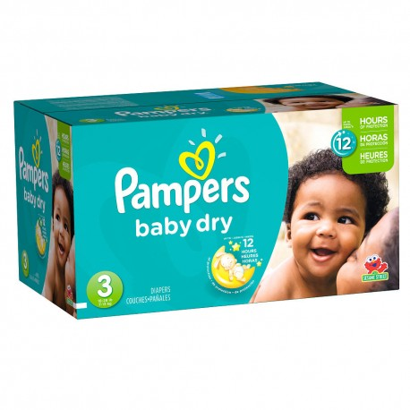 Pack jumeaux 1160 Couches Pampers Baby Dry taille 3 sur Couches Zone