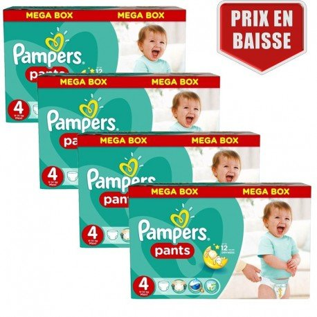 Pack jumeaux 1144 Couches Pampers Baby Dry Pants taille 4 sur Couches Zone
