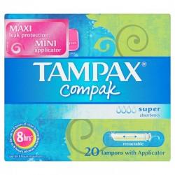 Compak - Pack de 20 Tampons Tampax taille super avec applicateur