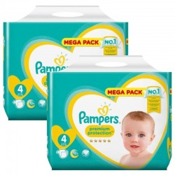 Mega pack 144 Couches Pampers New Baby Premium Protection taille 4 sur Couches Zone