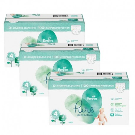 Mega pack 112 Couches Pampers Pure Protection taille 4 sur Couches Zone