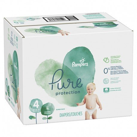 Mega pack 140 Couches Pampers Pure Protection taille 4 sur Couches Zone