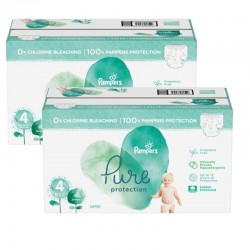 Mega pack 196 Couches Pampers Pure Protection taille 4