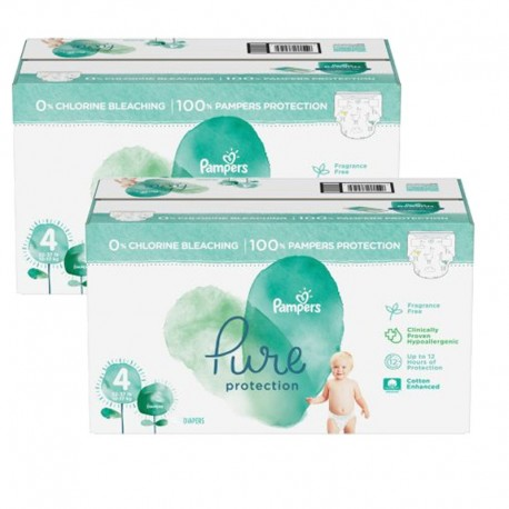 Mega pack 196 Couches Pampers Pure Protection taille 4 sur Couches Zone
