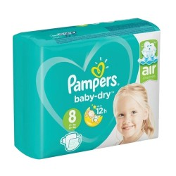 Pack 28 Couches Pampers Baby Dry taille 8 sur Couches Zone