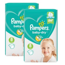 Pack 56 Couches Pampers Baby Dry taille 8 sur Couches Zone
