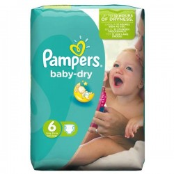 Pack 96 Couches Pampers Baby Dry taille 6 sur Couches Zone