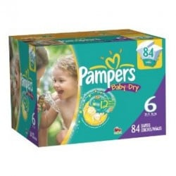 Pack jumeaux 672 Couches Pampers Baby Dry taille 6