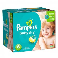 Pack jumeaux 864 Couches Pampers Baby Dry taille 6