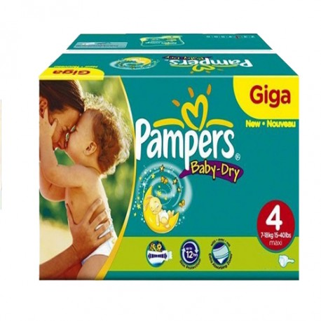 Mega pack 175 Couches Pampers Baby Dry taille 4 sur Couches Zone