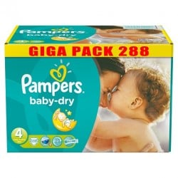 Giga pack 200 Couches Pampers Baby Dry taille 4 sur Couches Zone