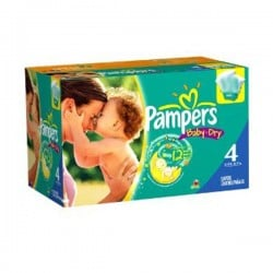 Maxi giga pack 375 Couches Pampers Baby Dry taille 4