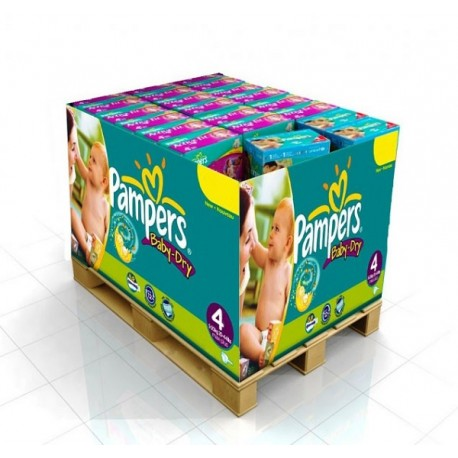 Maxi mega pack 400 Couches Pampers Baby Dry taille 4 sur Couches Zone