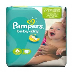 Pack 19 Couches Pampers Baby Dry taille 6 sur Couches Zone