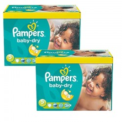 Pack 93 Couches Pampers Baby Dry taille 5 sur Couches Zone