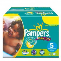Mega pack 124 Couches Pampers Baby Dry taille 5 sur Couches Zone