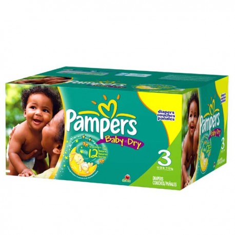 Giga pack 210 Couches Pampers Baby Dry taille 3 sur Couches Zone