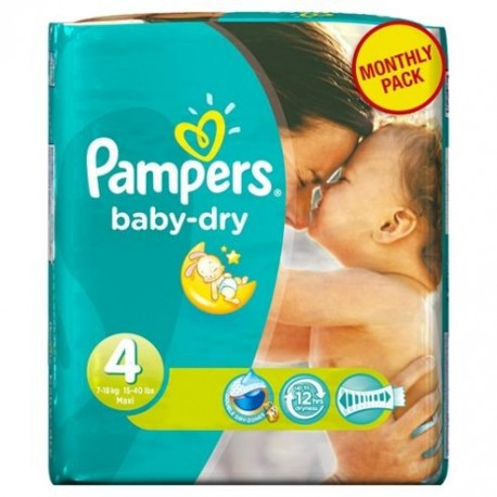 Pack 49 Couches Pampers Baby Dry taille 4 sur Couches Zone