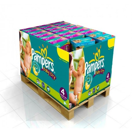 Pack 98 Couches Pampers Baby Dry taille 4 sur Couches Zone