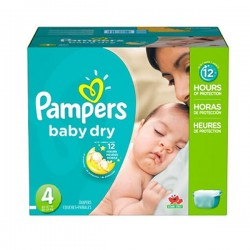Giga pack 294 Couches Pampers Baby Dry taille 4 sur Couches Zone