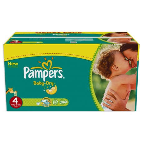 Pack jumeaux 588 Couches Pampers Baby Dry taille 4 sur Couches Zone