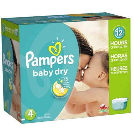 Pack jumeaux 735 Couches Pampers Baby Dry taille 4 sur Couches Zone