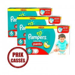 Pack 57 Couches Pampers Baby Dry Pants taille 6 sur Couches Zone