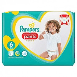Pack 16 Couches Pampers Premium Protection Pants taille 6 sur Couches Zone