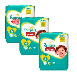 Pack 32 Couches Pampers Premium Protection Pants taille 6 sur Couches Zone