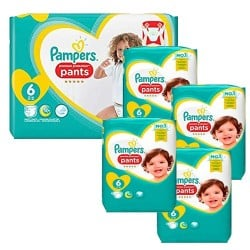 Pack 64 Couches Pampers Premium Protection Pants taille 6 sur Couches Zone