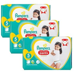 Pack 60 Couches Pampers Premium Protection Pants taille 5 sur Couches Zone