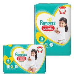 Pack 90 Couches Pampers Premium Protection Pants taille 5 sur Couches Zone