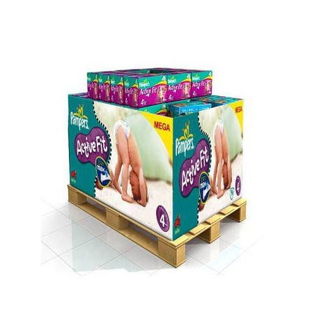 Pack jumeaux 800 Couches Pampers Active Fit Pants taille 4 sur Couches Zone