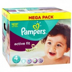 Pack jumeaux 1120 Couches Pampers Active Fit Pants taille 4 sur Couches Zone