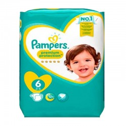 Pack 64 Couches Pampers Premium Protection taille 6 sur Couches Zone