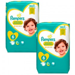 Mega pack 192 Couches Pampers Premium Protection taille 6 sur Couches Zone