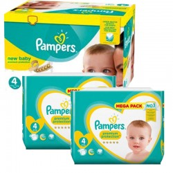 Maxi giga pack 369 Couches Pampers Premium Protection taille 4 sur Couches Zone