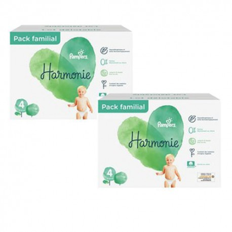 Pack 76 Couches Pampers Harmonie taille 4 sur Couches Zone
