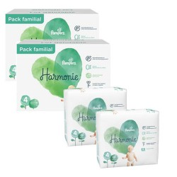 Pack 95 Couches Pampers Harmonie taille 4 sur Couches Zone