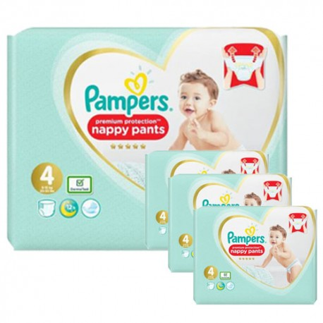 Pack 94 Couches Pampers Premium Protection Pants taille 4 sur Couches Zone